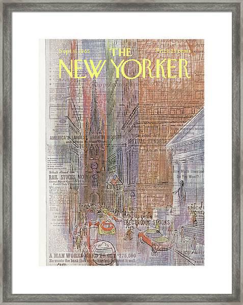New Yorker September 11th, 1965 Framed Print