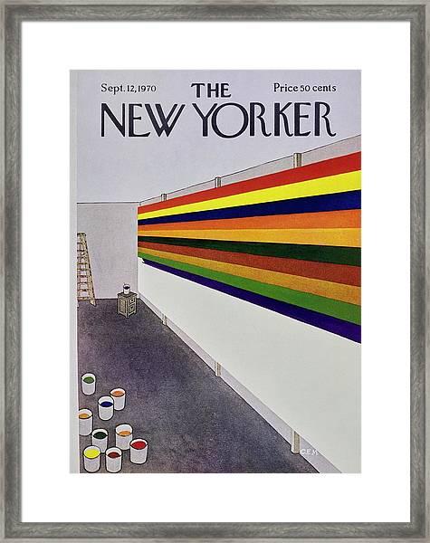 New Yorker September 12th 1970 Framed Print