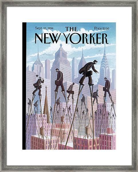 New Yorker September 12th, 1994 Framed Print by Eric Drooker