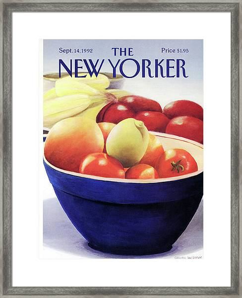 New Yorker September 14th, 1992 Framed Print