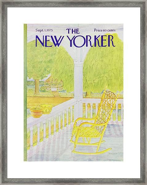 New Yorker September 1st 1975 Framed Print