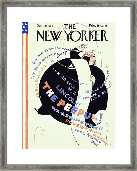 New Yorker September 24 1932 Framed Print