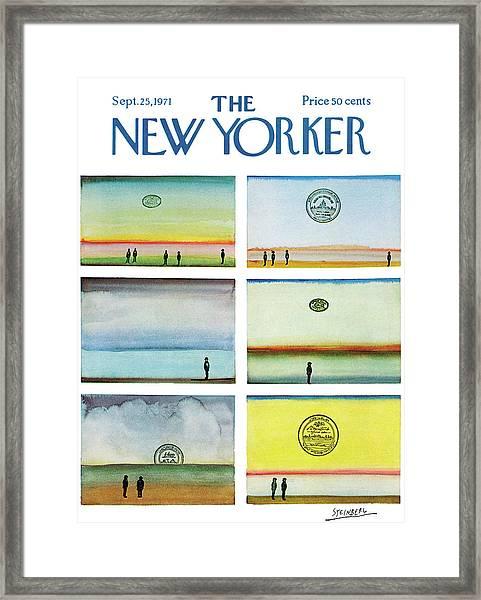 New Yorker September 25th, 1971 Framed Print