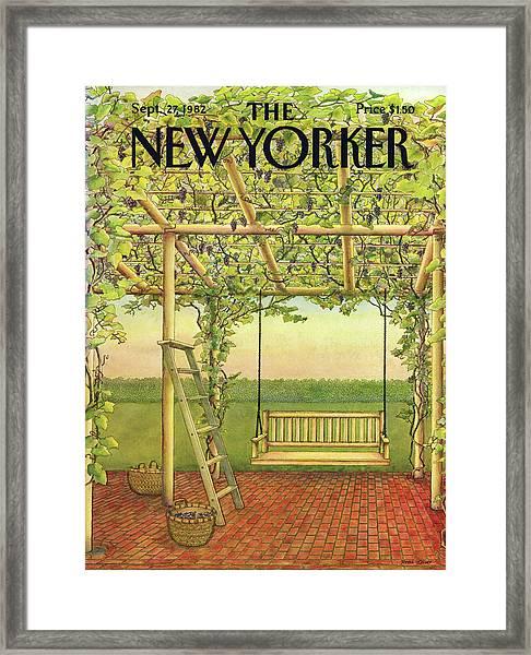 New Yorker September 27th, 1982 Framed Print