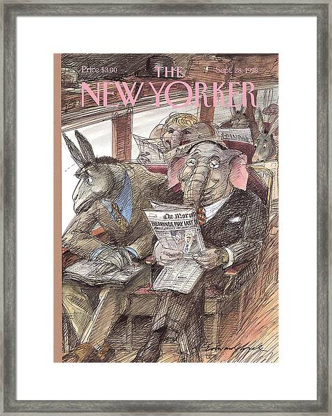 New Yorker September 28th, 1998 Framed Print