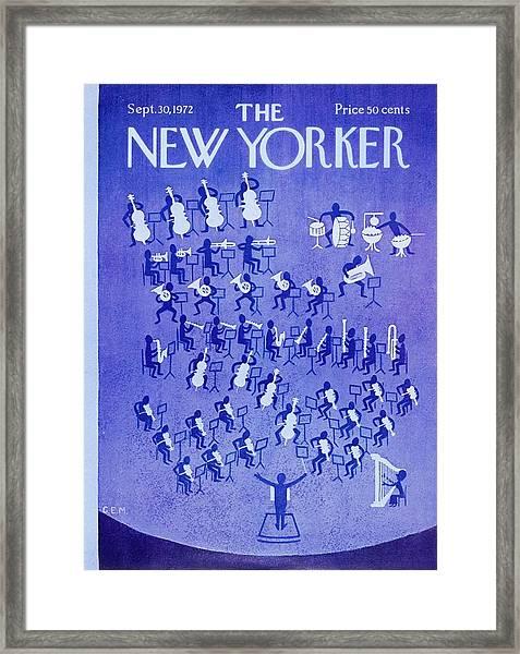 New Yorker September 30th 1972 Framed Print