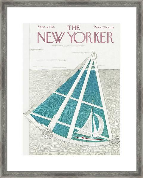 New Yorker September 3rd, 1955 Framed Print