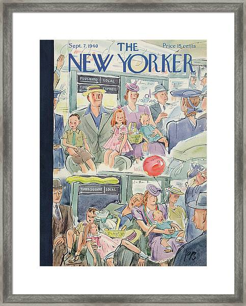 New Yorker September 7th, 1940 Framed Print