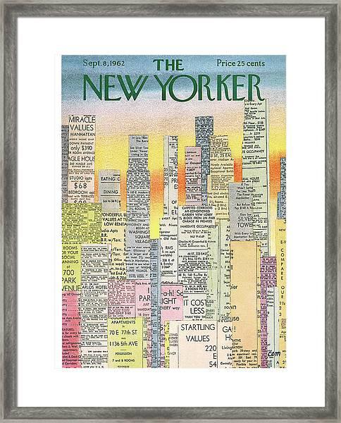 New Yorker September 8th, 1962 Framed Print