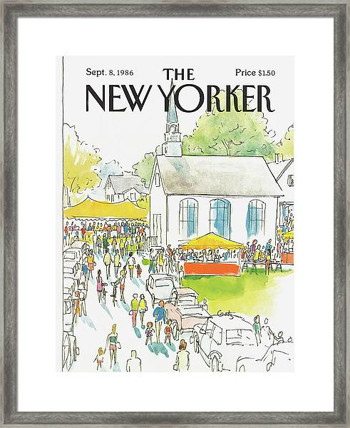 New Yorker September 8th, 1986 Framed Print