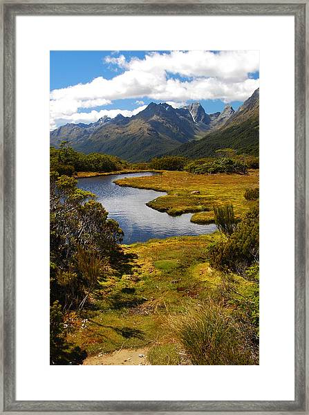 New Zealand Alpine Landscape Framed Print