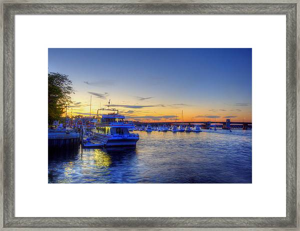 Newburyport Harbor Marina Framed Print