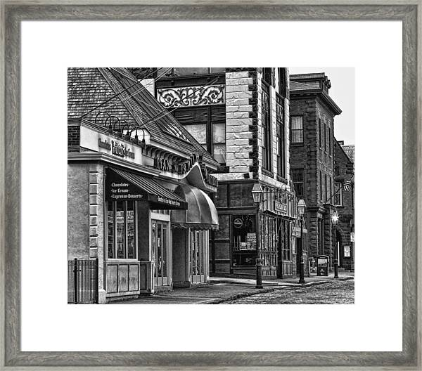 Newport In Monochrome Framed Print