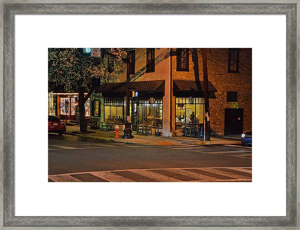 Framed Print featuring the photograph Newtown Nighthawks by William Jobes