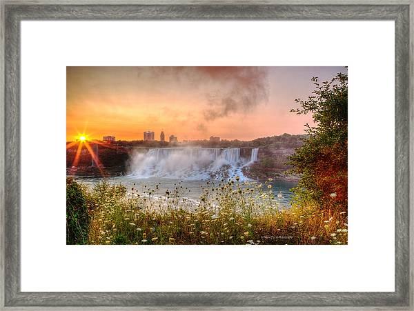 Niagara Falls Canada Sunrise Framed Print