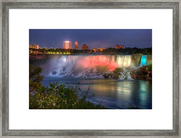 Niagara Falls Canada Sunset  Framed Print