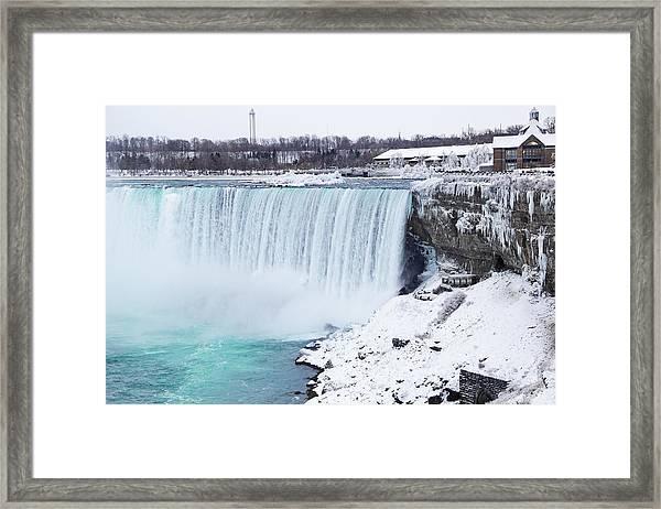 Niagara Falls Winter Framed Print