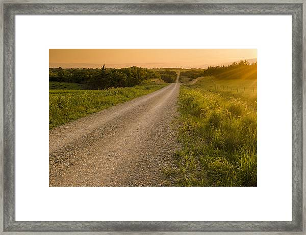 Nice Place For A Drive Framed Print