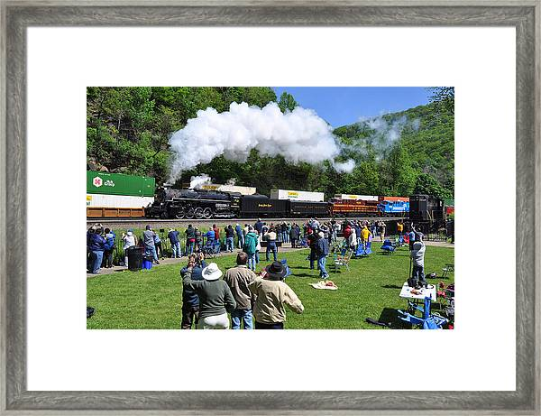Nickel Plate Berkshire At Horseshoe Curve Framed Print
