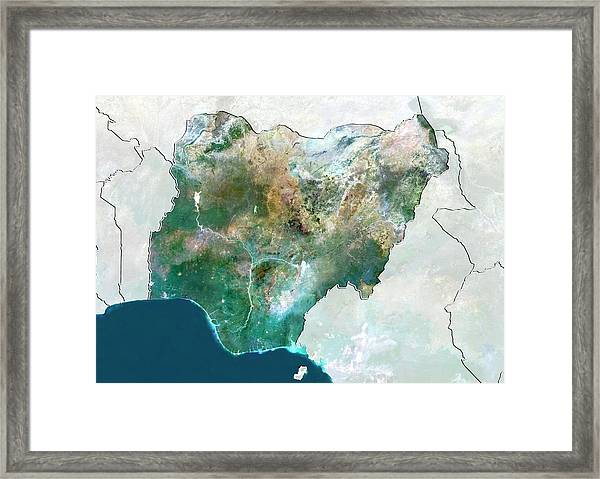 Nigeria Framed Print by Planetobserver/science Photo Library