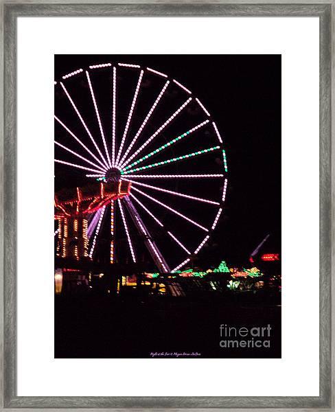 Night At The Fair Framed Print