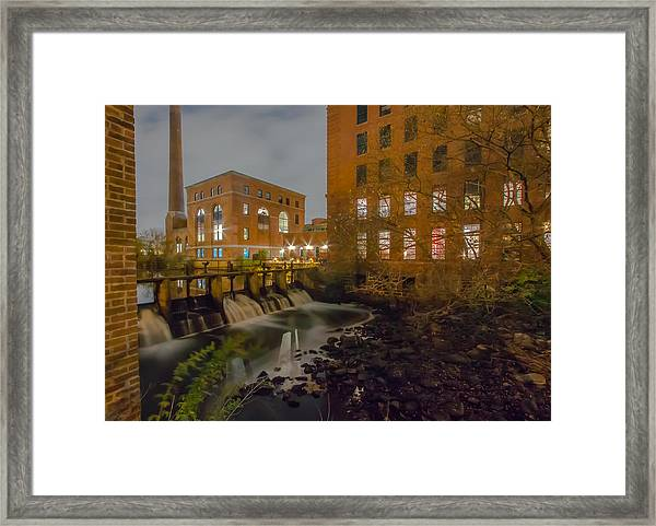 Night At The River Framed Print