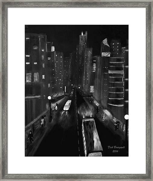 Night City Scape Framed Print