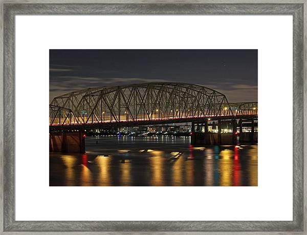 Night Crossing At I-5 Framed Print
