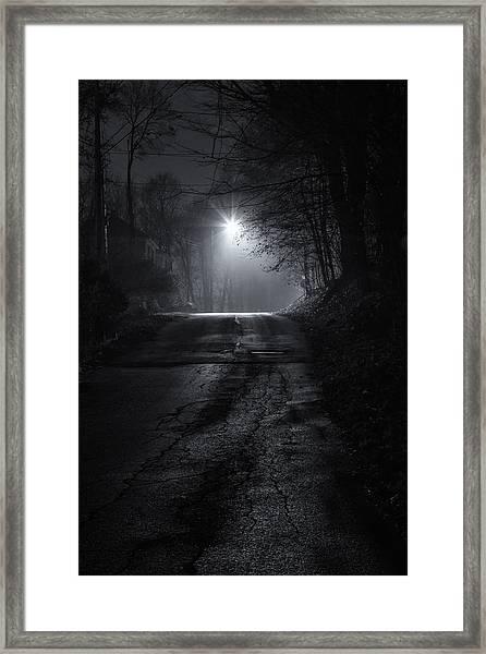Night Fog Framed Print