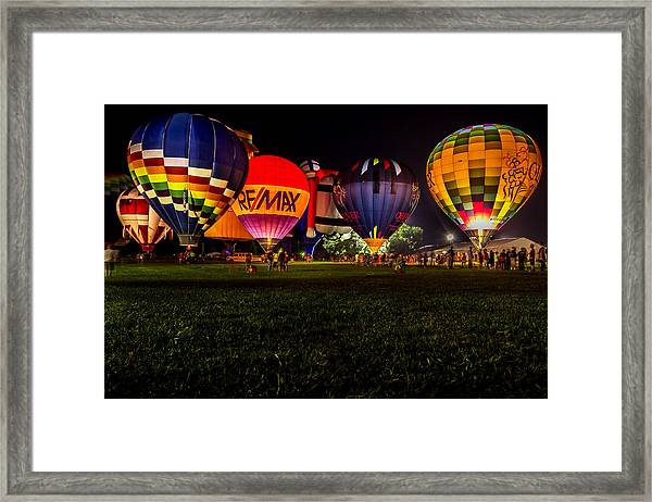 Night Glow Framed Print