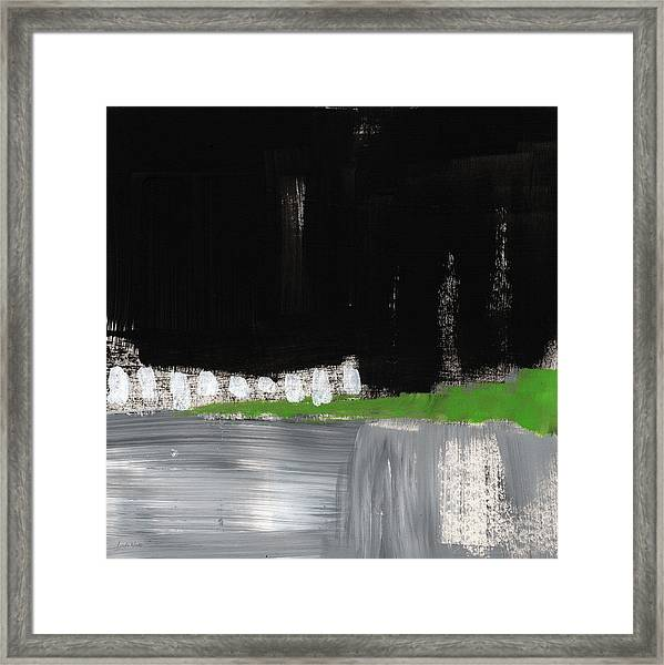 Night Horizon- Abstract Landscapeart Framed Print