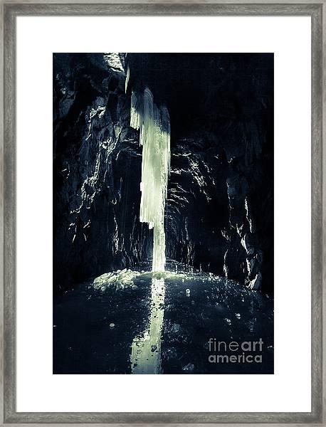 Dark Ice Framed Print