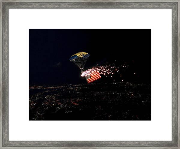 Night Jump Framed Print