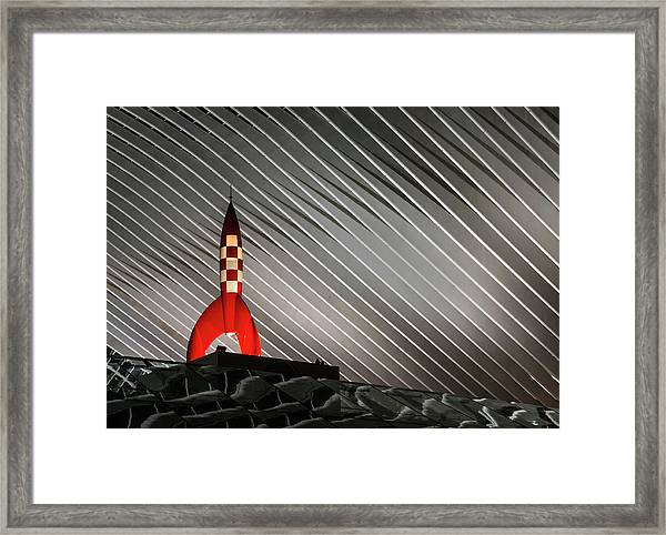 Night Launch Framed Print