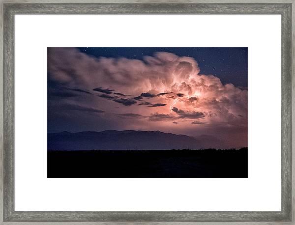 Night Lightning Framed Print