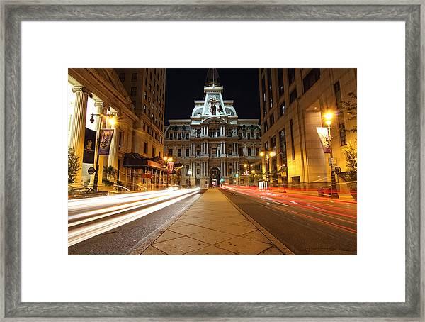 Night Lights Framed Print