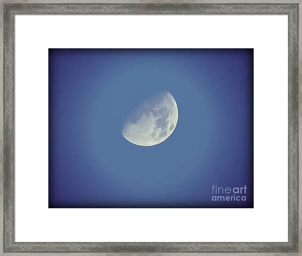 Night Moon Rising Framed Print