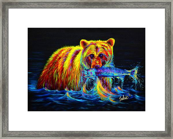 Night Of The Grizzly Framed Print
