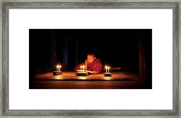 Night Reading Framed Print