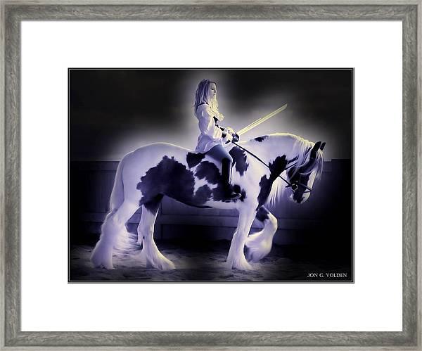 Night Rider Framed Print