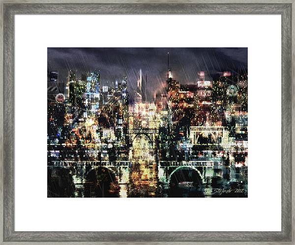 Night-scape Framed Print