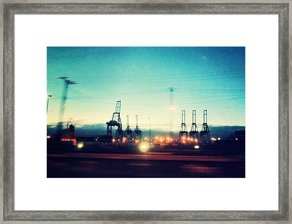 Seattle Night Sky Framed Print