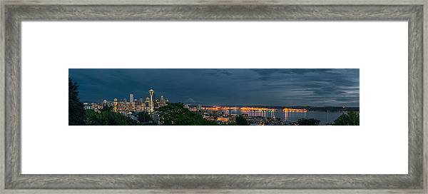 Night Skyline Framed Print