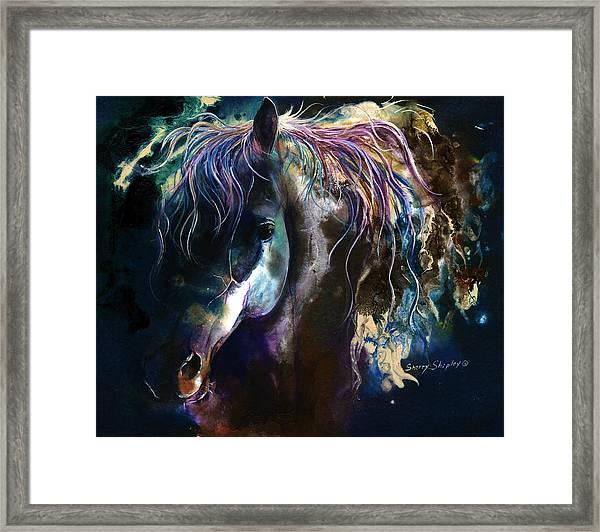Night Stallion Framed Print
