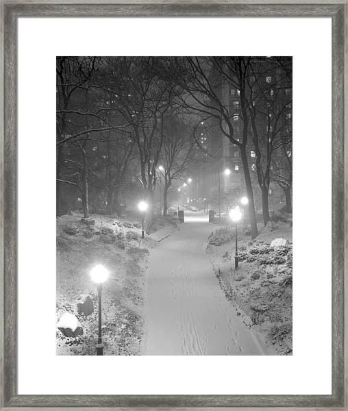 Night Storm New York Framed Print