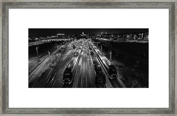 Night Work. Framed Print