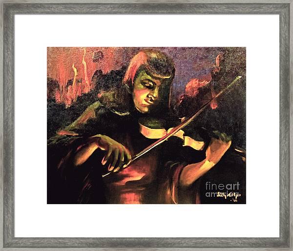 Nightclub Violinist - 1940s Framed Print
