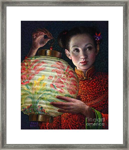 Nightingale Girl Framed Print
