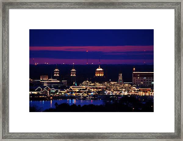 Nights Of Lights St. Augustine Framed Print