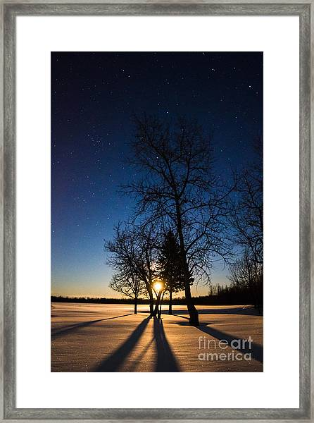 Night's Shadows Framed Print